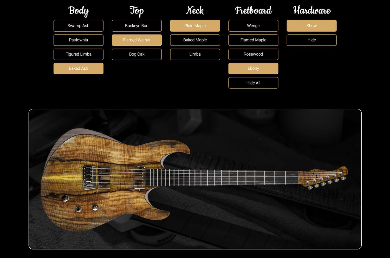 LT Custom Guitar Builder